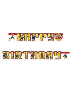 Happy-Birthday-Girlande mit Sam der Feuerwehrmann