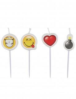 Emoticons™-Kerzen 4 Stück
