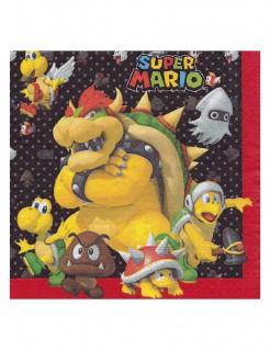Papierservietten Super Mario™ Computerspiel-Deko 20 Stück bunt