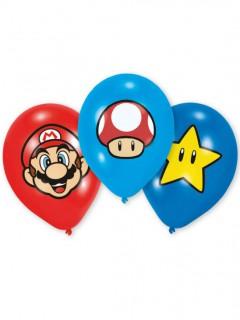 Super Mario™-Luftballons Lizenzartikel 6 Stück bunt 27,5cm