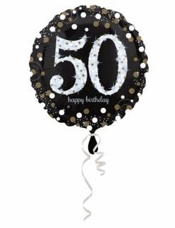 Funkelnder Geburtstagsballon 50 Jahre 45cm