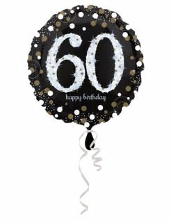 Funkelnder Geburtstagsballon 60 Jahre 45cm