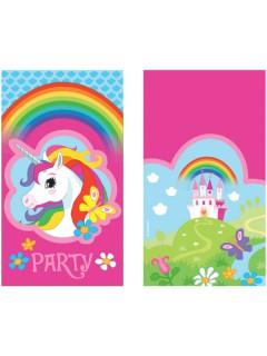 Einhorn Einladungskarten Kindergeburtstag 8 Stück bunt