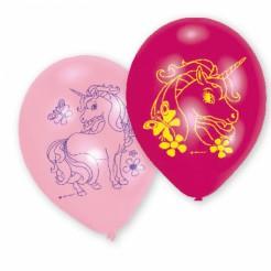 Einhorn Ballons Latex-Partyballons 6 Stück bunt