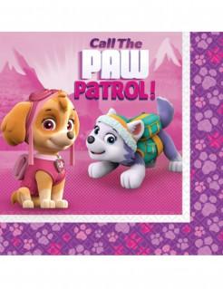PAW-Patrol-Papierservietten 33 x 33 cm violett-rosa