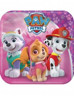 Paw Patrol™-Partyteller 8 Stück rosa 18cm