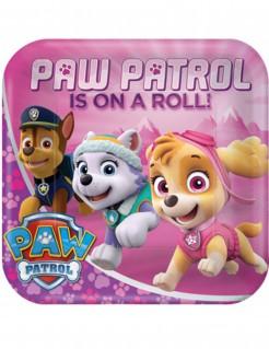 Paw Patrol™-Partyteller 8 Stück rosa 23cm
