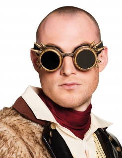 Cyberpunk-Erwachsenenbrille Steampunk gold-schwarz