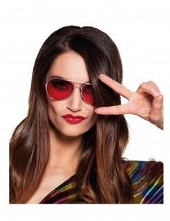 Fliegerbrille für Erwachsene rot