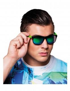 Erwachsenenbrille mit Spiegeleffekt - schwarz/grün