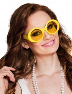 Disco-Brille für Erwachsene gelb
