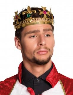 Königliche Erwachsenen-Krone gold-bunt
