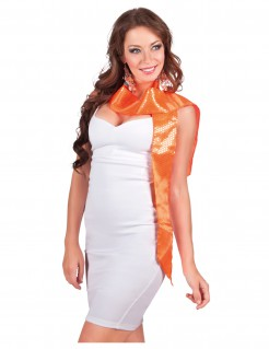 Pailletten-Schal für Erwachsene orange