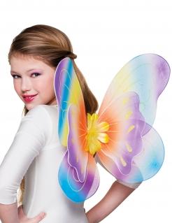 Mädchen Schmetterlingsflügel bunt