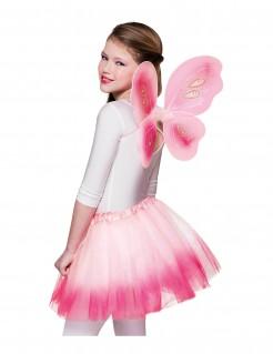 Schmetterlings-Kostüm für Mädchen rosa