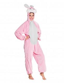 Erwachsenen Hasen-Verkleidung - pink/weiß