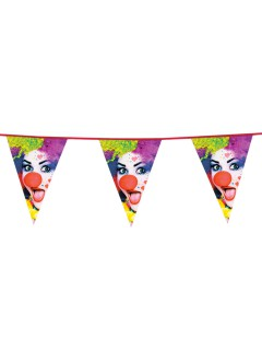 Wimpel-Girlande Party-Clown 6 m