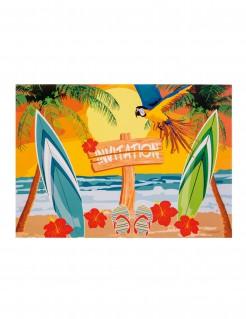 Strandparty Einladungskarten 6 Stück bunt 10x15cm