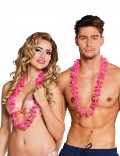 Hawaiiketten Blumenketten 25 Stück pink 50cm