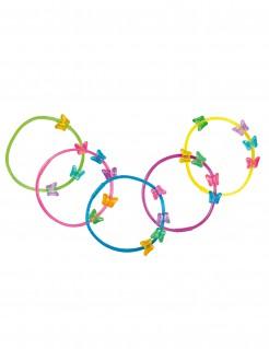 Schmetterlings-Armbänder 5 Stück bunt