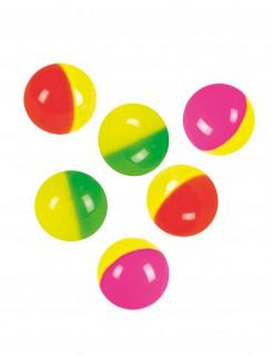 Hüpfende Bälle 6 Stück bunt 3 cm