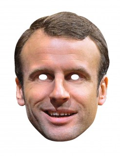 Emmanuel Macron Maske Politiker-Maske hautfarben-braun