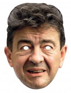 Jean-Luc Mélenchon Pappmaske Politiker-Maske hautfarben-grau
