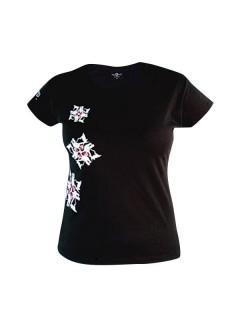 Tollwut Streetwear Girlie-Shirt  Snowflake  schwarz