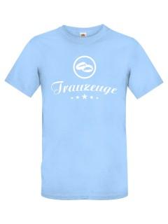 JGA T-Shirt Trauzeuge hellblau-weiss