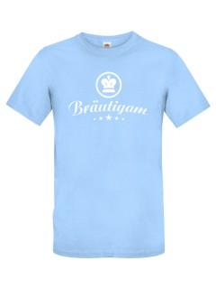 JGA T-Shirt Bräutigam hellblau-weiss