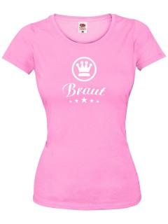 JGA Girlie Shirt Braut Junggesellinnenabschied rosa