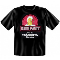 Oktoberfest Fun-Shirt Beer Party schwarz