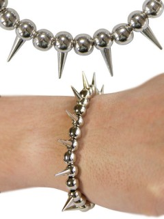 Gothic Armband Spikes silber