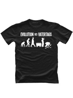 T-Shirt Evolution des Vatertags Vatertagsshirt schwarz