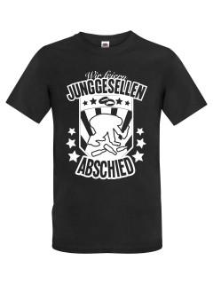 JGA T-Shirt Wir feiern Junggesellenabschied Hangover schwarz-weiss