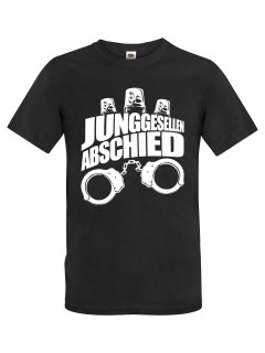 JGA T-Shirt Junggesellenabschied Handschellen und Sirenen schwarz-weiss