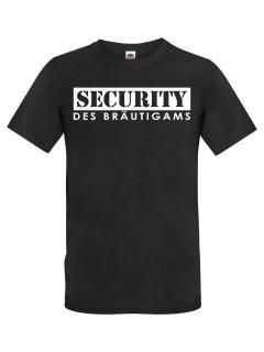 JGA T-Shirt Security des Bräutigams schwarz-weiss