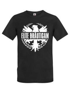 JGA T-Shirt Elite Bräutigam schwarz-weiss