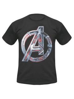 Avengers-Fanshirt Age of Ultron Fanshirt schwarz-silber
