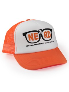 Pixels™ Basecap Nerd Lizenzware orange-weiss