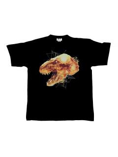 Jurassic World™ T-Shirt Tyrannosaurus Rex Kopf schwarz-gelb