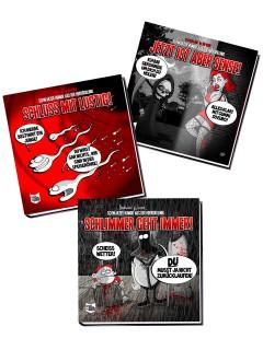 Bücher schwarzer Humor aus der Horrorklinik 3er Set komplett