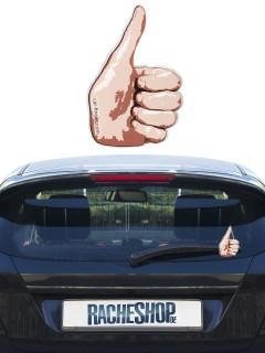 Scheibenwischer-Deko fürs Auto Ausgestreckter Daumen hautfarben 11,5cm