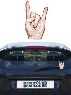 Metal-Handzeichen für Heckscheibenwischer Auto-Dekoration hautfarben 12cm
