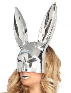 Kaninchenmaske Silber Chrom