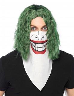 Joker™-Tuch Halloween-Accessoire weiss-rot-schwarz