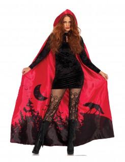 Bedruckter Umhang für Halloween rot
