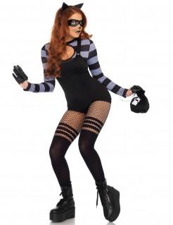 Sexy Katzendiebin-Damenkostüm schwarz-grau