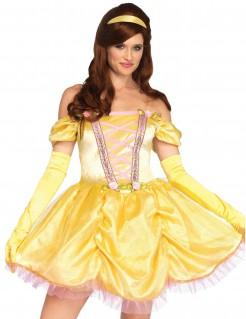 Prinzessinnenkostüm für Damen kurz gelb