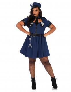 Heisse Polizistin Damenkostüm in Übergröße blau